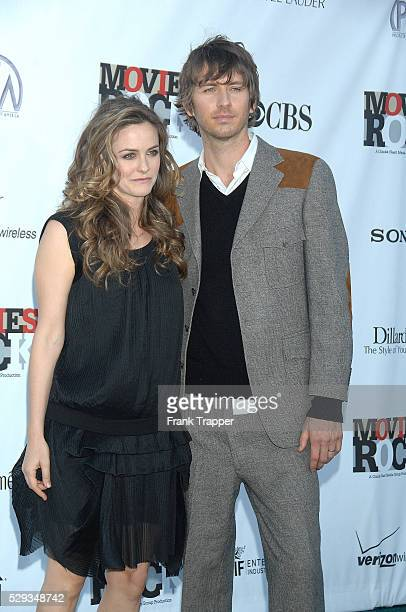Actress Alicia Silverstone and husband Christopher Jarecki arrive at Movies Rock a celebration of music and film held at the Kodak theater in...
