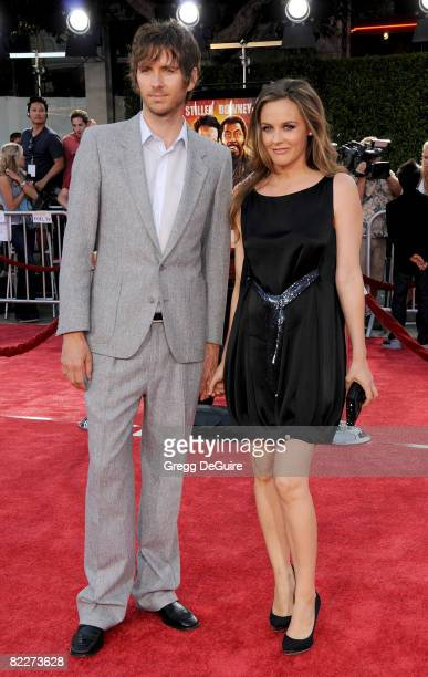 Actress Alicia Silverstone and husband Christopher Jarecki arrive at the Los Angeles Premiere Of 'Tropic Thunder' at the Mann's Village Theater on...
