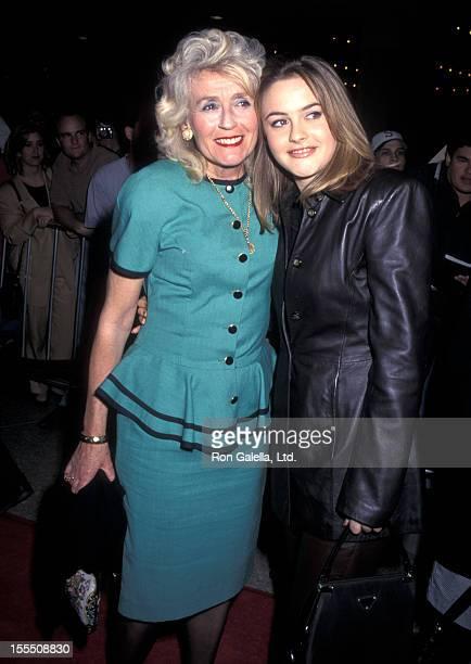 Actress Alicia Silverstone and mother Didi Radford attend the Diabolique Century City Premiere on March 20 1996 at Cineplex Odeon Century Plaza...