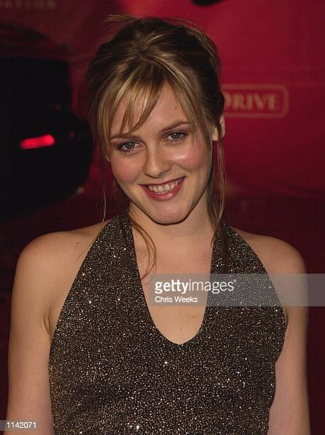 Actress Alicia Silverstone arrives at Jaguar's Tribute to Style March 18 2001 in Santa Monica CA