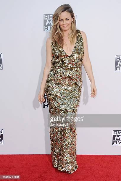 Actress Alicia Silverstone arrives at the 2015 American Music Awards at Microsoft Theater on November 22 2015 in Los Angeles California