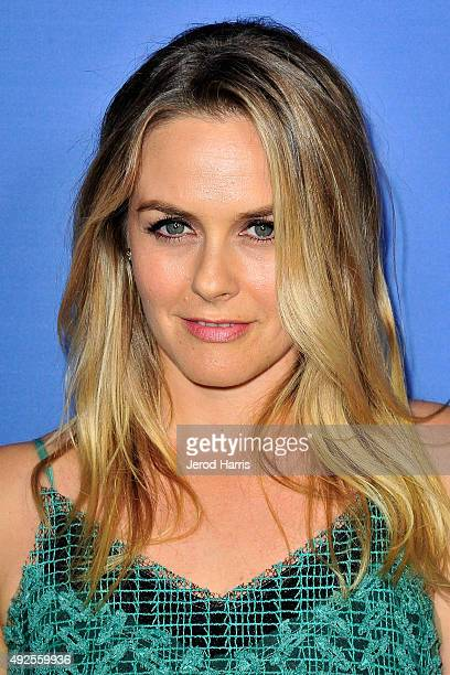 Actress Alicia Silverstone arrives at the Premiere of A24's 'Room' at Pacific Design Center on October 13 2015 in West Hollywood California