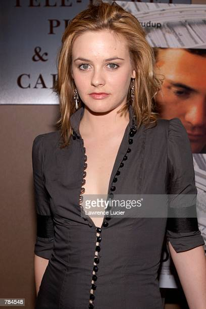 Actress Alicia Silverstone arrives at the premiere of the film World Traveler April 15 2002 in New York City