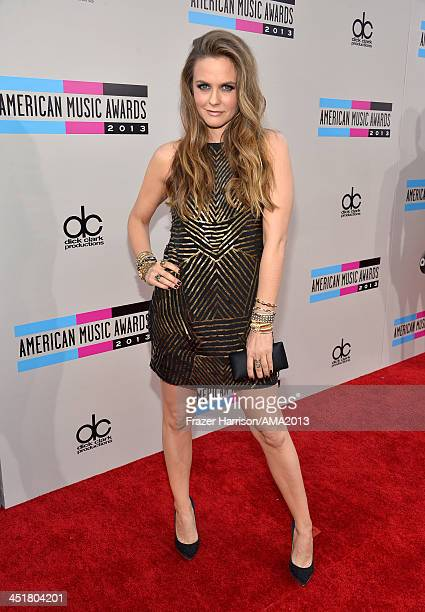 Actress Alicia Silverstone attends 2013 American Music Awards at Nokia Theatre LA Live on November 24 2013 in Los Angeles California