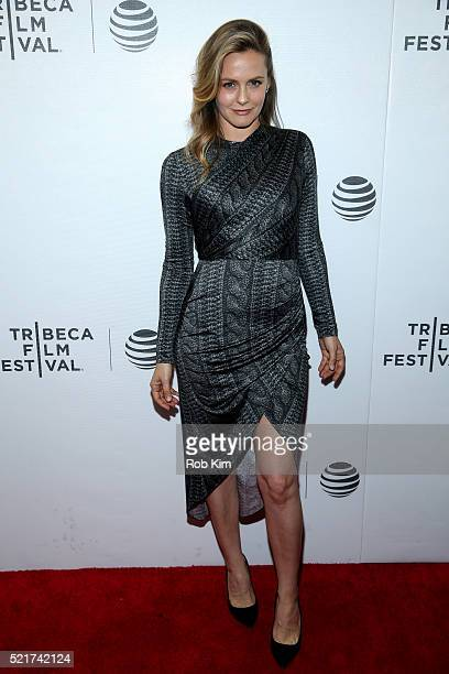Actress Alicia Silverstone attends the 'King Cobra' Premiere 2016 Tribeca Film Festival at Regal Battery Park Cinemas on April 16 2016 in New York...