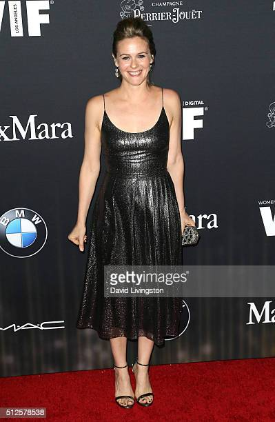 Actress Alicia Silverstone attends the Ninth Annual Women In Film PreOscar Cocktail Party Presented By Max Mara BMW MAC Cosmetics And PerrierJouet at...