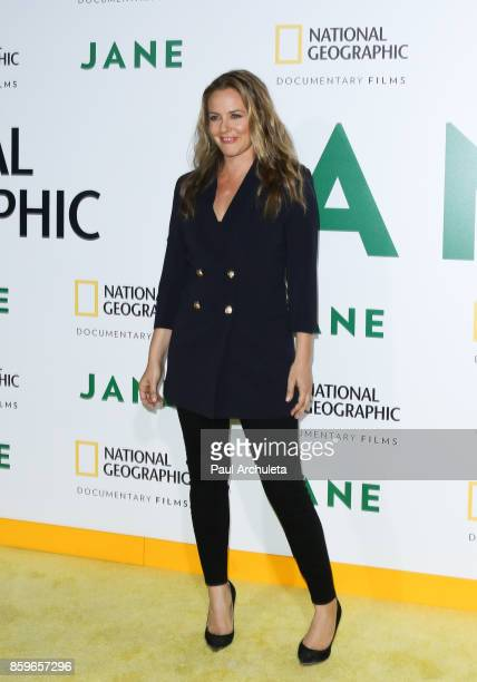 Actress Alicia Silverstone attends the premiere of National Geographic documentary films' 'Jane' at the Hollywood Bowl on October 9 2017 in Hollywood...