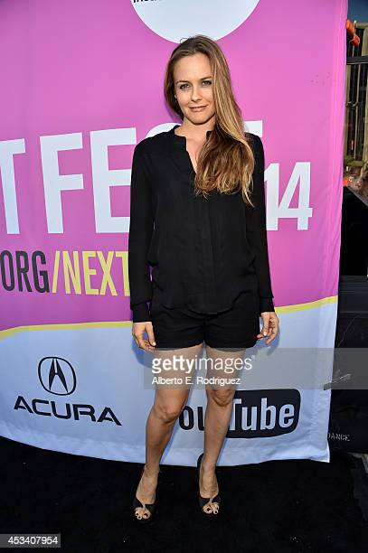 Actress Alicia Silverstone attends the screening of 'Listen Up Philip' during Sundance NEXT FEST at The Theatre at Ace Hotel on August 9 2014 in Los...