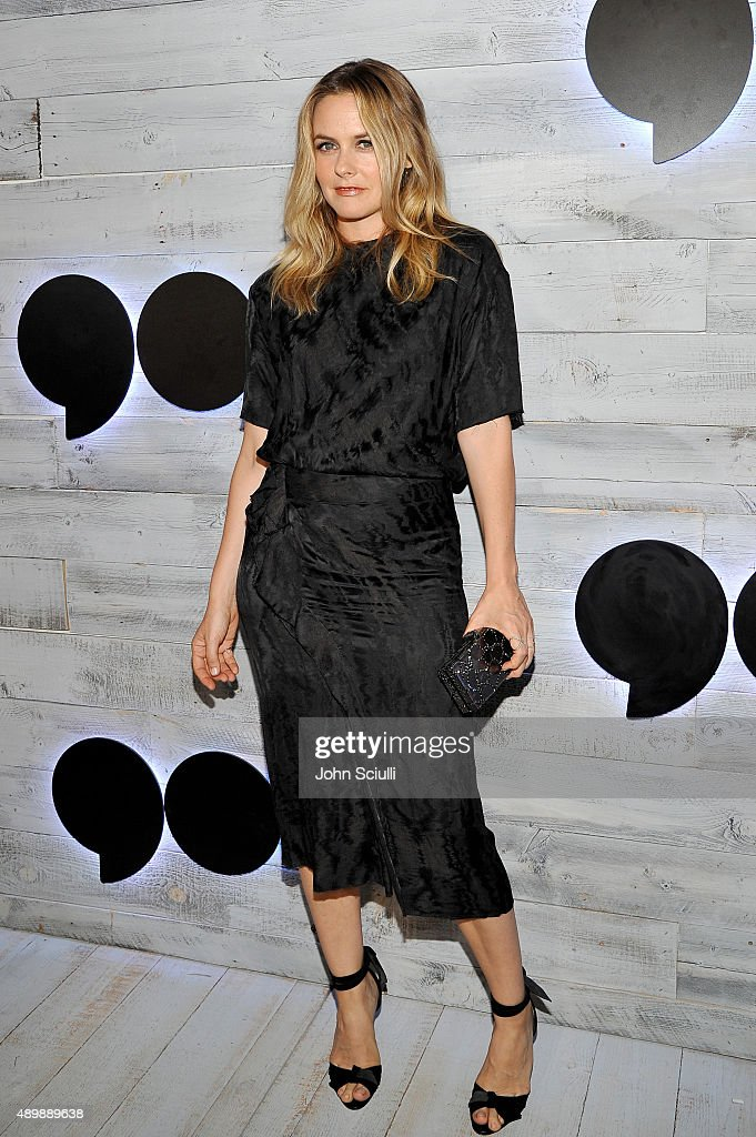 Actress Alicia Silverstone attends the VIP sneak peek of the go90 Social Entertainment Platform at the Wallis Annenberg Center for the Performing Arts on September 24, 2015 in Los Angeles, California.