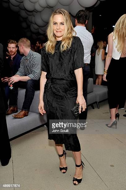 Actress Alicia Silverstone attends the VIP sneak peek of the go90 Social Entertainment Platform at the Wallis Annenberg Center for the Performing...