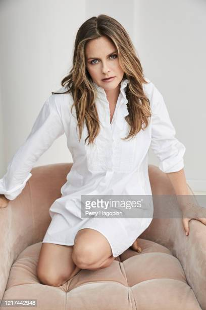Actress Alicia Silverstone is photographed for Working Mother Magazine on August 2, 2018 in New York City.