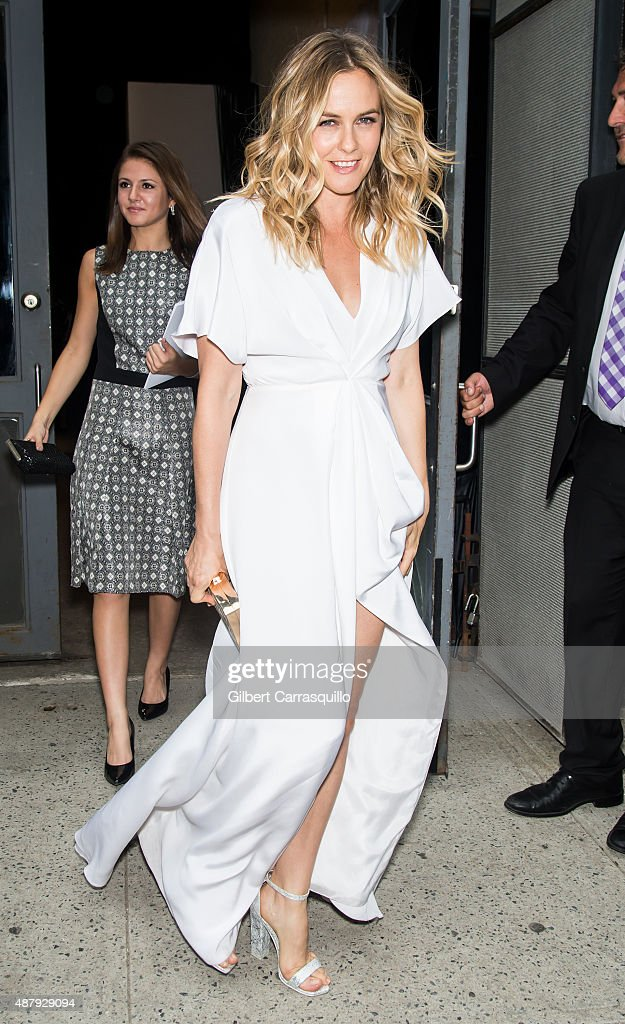 Actress Alicia Silverstone is seen arriving at Christian Siriano fashion show during Spring 2016 New York Fashion Week on September 12, 2015 in New York City.