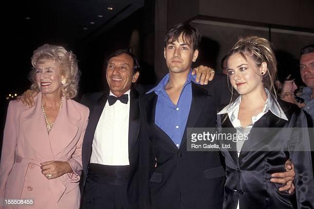 Actress Alicia Silverstone mother Didi Radford father Monty Silverstone and brother David Silverstone attend the Roar FoundationShambala Preserve...