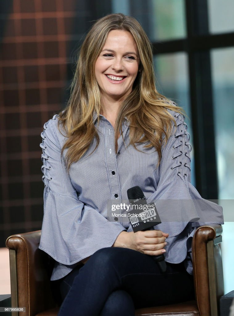 Actress Alicia Silverstone visits Build Studio to discuss the television show 'American Woman' on June 5, 2018 in New York City.