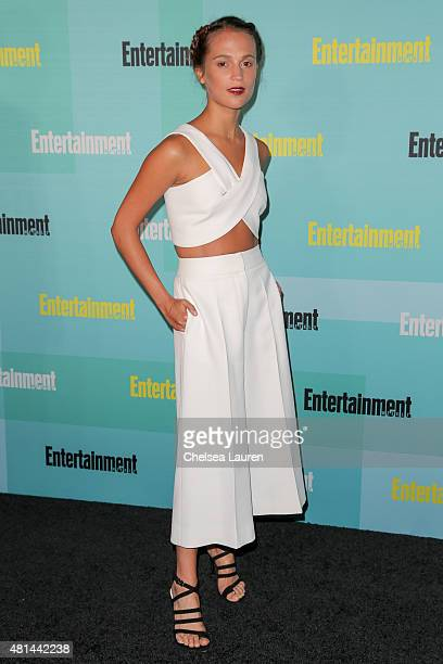 Actress Alicia Vikander arrives at the Entertainment Weekly celebration at Float at Hard Rock Hotel San Diego on July 11 2015 in San Diego California