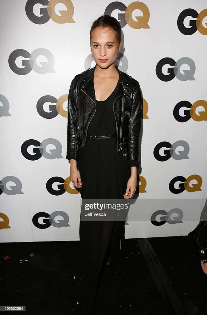 Actress Alicia Vikander arrives at the GQ Men of the Year Party at Chateau Marmont on November 13, 2012 in Los Angeles, California.