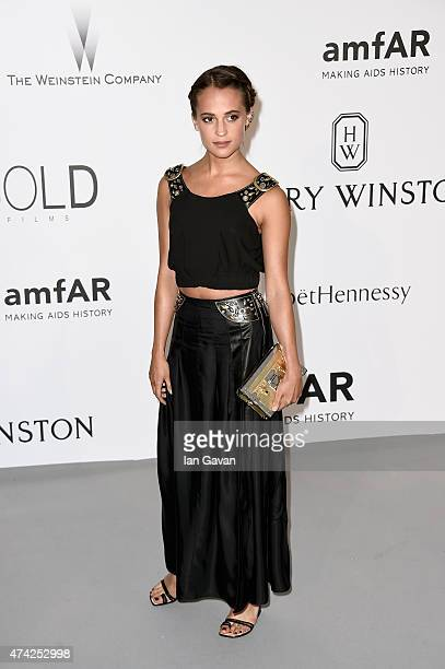 Actress Alicia Vikander attends amfAR's 22nd Cinema Against AIDS Gala Presented By Bold Films And Harry Winston at Hotel du CapEdenRoc on May 21 2015...