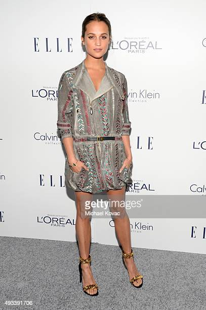 Actress Alicia Vikander attends the 22nd Annual ELLE Women in Hollywood Awards at Four Seasons Hotel Los Angeles at Beverly Hills on October 19 2015...