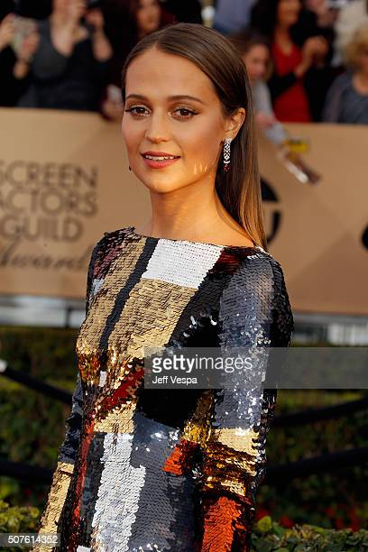 Actress Alicia Vikander attends the 22nd Annual Screen Actors Guild Awards at The Shrine Auditorium on January 30 2016 in Los Angeles California