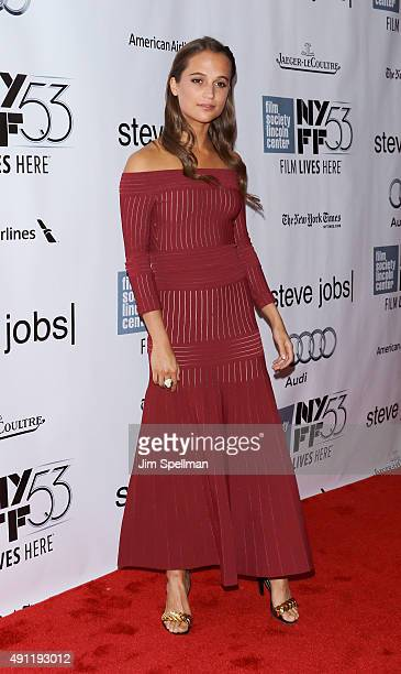 Actress Alicia Vikander attends the 53rd New York film festival 'Steve Jobs' at Alice Tully Hall Lincoln Center on October 3 2015 in New York City