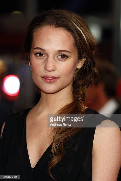 Actress Alicia Vikander attends the 'En Kongelig Affaere' Premiere during day eight of the 62nd Berlin International Film Festival at the Berlinale...