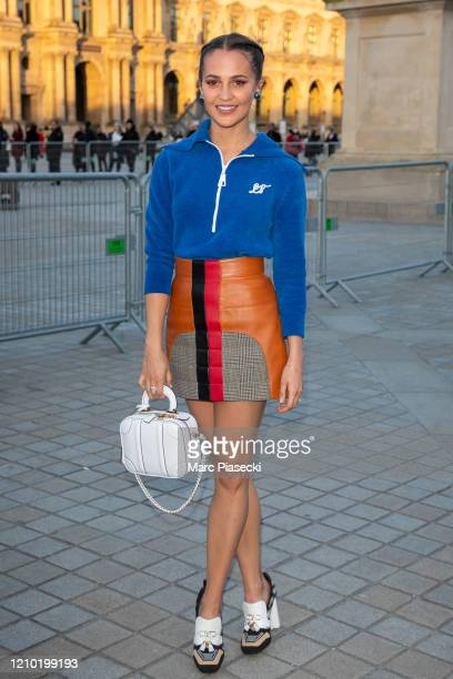 Actress Alicia Vikander attends the Louis Vuitton show as part of the Paris Fashion Week Womenswear Fall/Winter 2020/2021 on March 03 2020 in Paris...