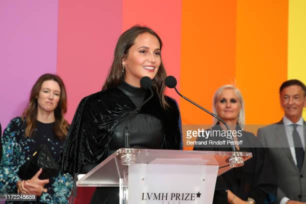 Actress Alicia Vikander attends the LVMH Prize 2019 Edition at Louis Vuitton Foundation on September 04, 2019 in Paris, France.