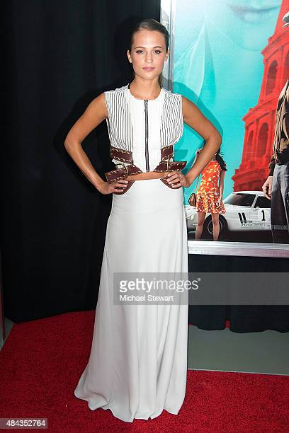 Actress Alicia Vikander attends The Man From UNCLE New York premiere at Ziegfeld Theater on August 10 2015 in New York City
