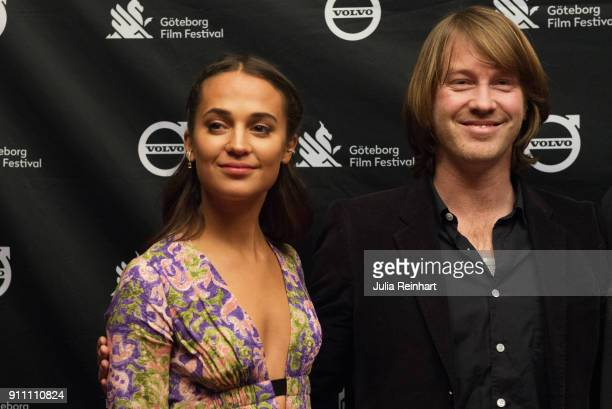 Actress Alicia Vikander attends the Nordic premiere of her film Euphoria at the Gothenburg Film Festival at Draken Film Center on January 27 2018 in...