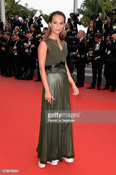 Actress Alicia Vikander attends the Premiere of 'Sicario' during the 68th annual Cannes Film Festival on May 19 2015 in Cannes France