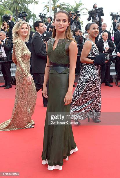 Actress Alicia Vikander attends the 'Sicario' Premiere during the 68th annual Cannes Film Festival on May 19 2015 in Cannes France