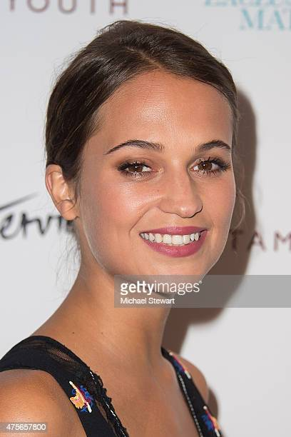 Actress Alicia Vikander attends the Testament Of Youth New York Premiere at Chelsea Bow Tie Cinemas on June 2 2015 in New York City