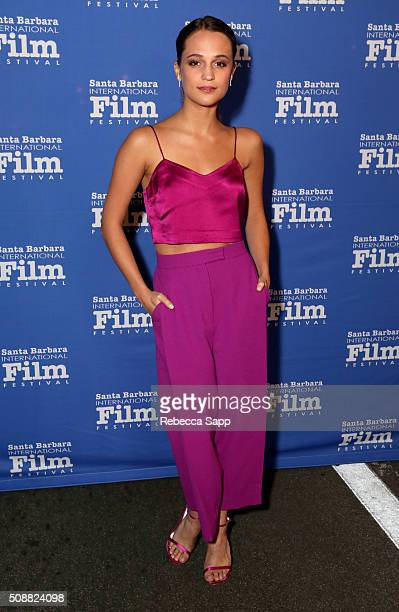 Actress Alicia Vikander attends the Virtuosos Award at the Arlington Theater at the 31th Santa Barbara International Film Festival on February 6 2016...