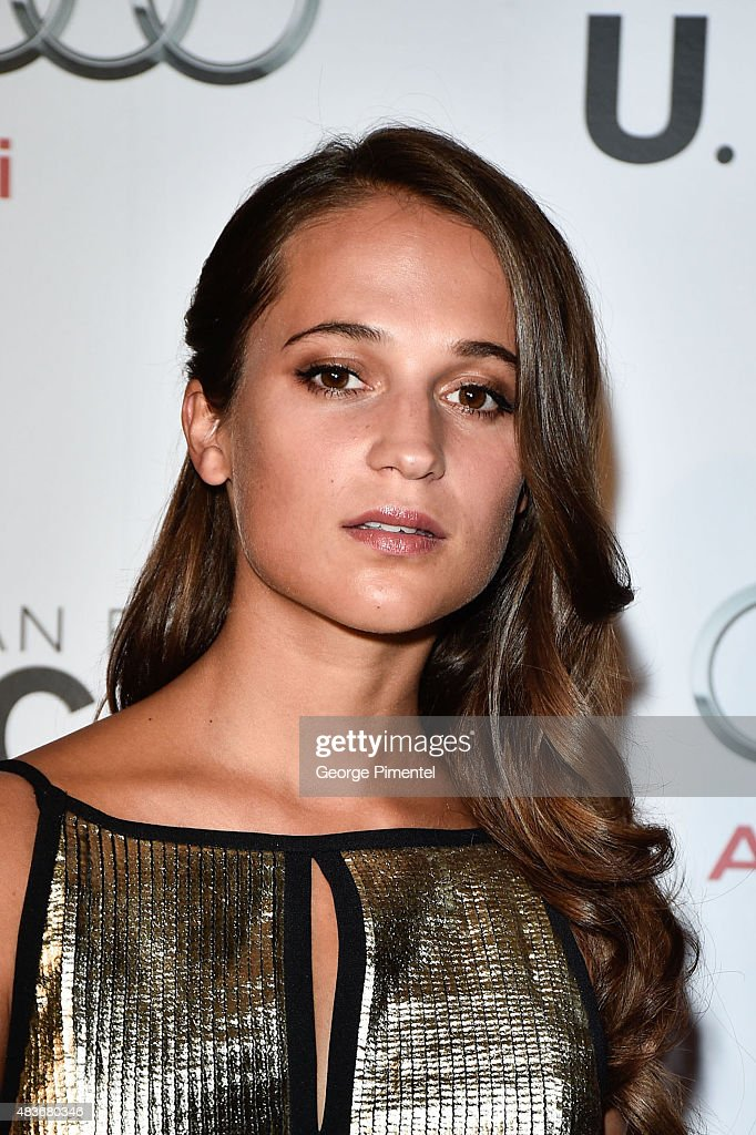 Actress Alicia Vikander attends Warner Bros. Pictures Canada and Audi Canada host a private cocktail reception for the Canadian premiere of 'The Man From U.N.C.L.E.' at Shangri-La Hotel on August 11, 2015 in Toronto, Canada.