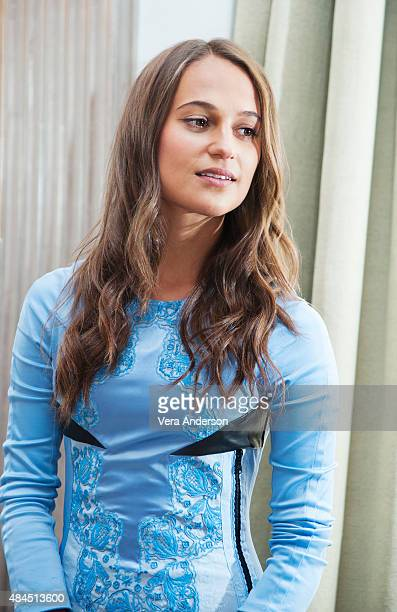 Actress Alicia Vikander is photographed at 'The Man From UNCLE' Press Conference at Claridge's Hotel on July 23 2015 in London England