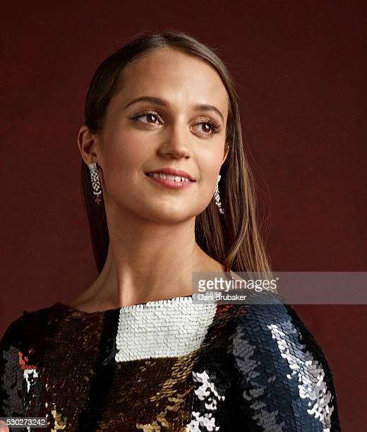 Actress Alicia Vikander is photographed for Peoplecom on January 30 2016 in Los Angeles California