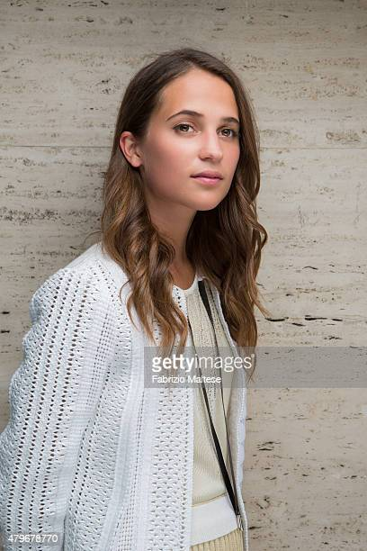 Actress Alicia Vikander is photographed for The Hollywood Reporter on May 15 2015 in Cannes France