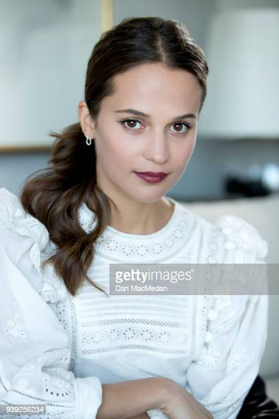 Actress Alicia Vikander is photographed for USA Today on February 23 2018 in Los Angeles California