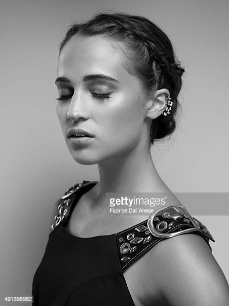 Actress Alicia Vikander is photographed for Vanity Faircom on May 15 2015 in Cannes France