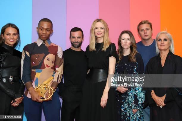 Actress Alicia Vikander LVMH Prize 2019 Thebe Magugu stylist of Louis Vuitton Nicolas Ghesquiere Louis Vuitton's executive vice president Delphine...