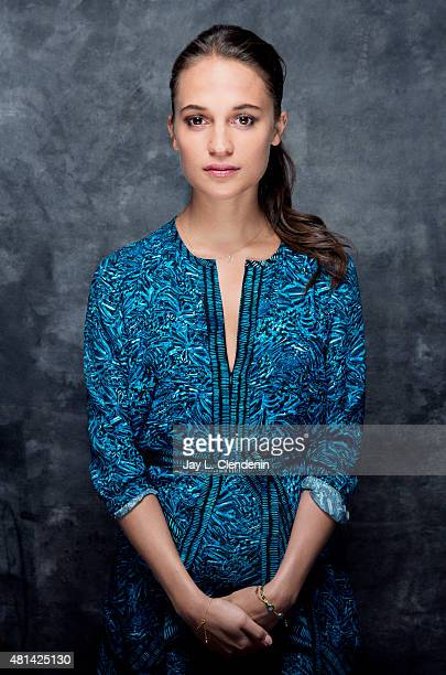 Actress Alicia Vikander of ' Man from UNCLE' poses for a portrait at ComicCon International 2015 for Los Angeles Times on July 9 2015 in San Diego...