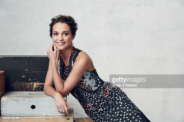 Actress Alicia Vikander poses for a portrait during the 21st Annual Critics' Choice Awards at Barker Hangar on January 17 2016 in Santa Monica...