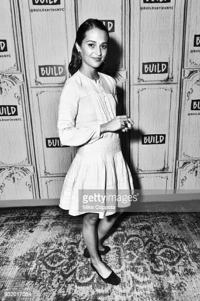 Actress Alicia Vikander speaks at the Build Studio on March 14 2018 in New York City