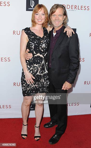 Actress Alicia Witt and director/actor William H Macy arrive at the Los Angeles VIP Screening 'Rudderless' at the Vista Theatre on October 7 2014 in...