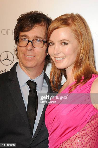 Actress Alicia Witt and musician Ben Folds arrive at The Art of Elysium's 7th Annual HEAVEN Gala presented by MercedesBenz at Skirball Cultural...