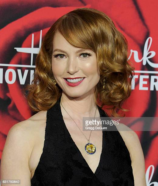 Actress Alicia Witt arrives at Hallmark Channel And Hallmark Movies And Mysteries Winter 2017 TCA Press Tour at The Tournament House on January 14...