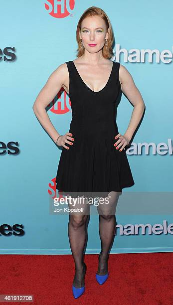 Actress Alicia Witt arrives at Showtime Celebrates AllNew Seasons Of 'Shameless' 'House Of Lies' And 'Episodes' at Cecconi's Restaurant on January 5...