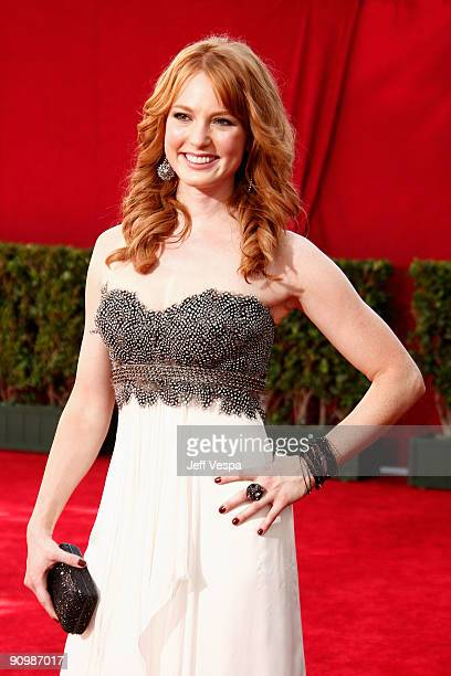 Actress Alicia Witt arrives at the 61st Primetime Emmy Awards held at the Nokia Theatre on September 20 2009 in Los Angeles California