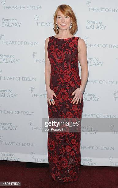 Actress Alicia Witt arrives at The Art Of Elysium 8th Annual Heaven Gala at Hangar 8 on January 10 2015 in Santa Monica California