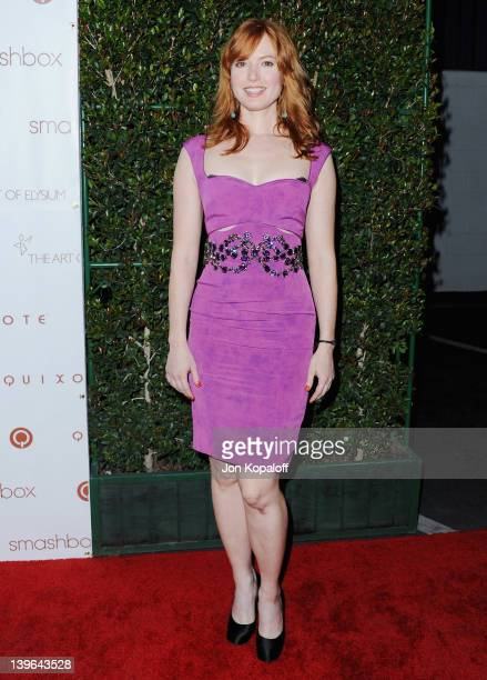 Actress Alicia Witt arrives at The Art Of Elysium Hosts 5th Annual 'Pieces Of Heaven' Art Auction at Smashbox West Hollywood on February 23 2012 in...